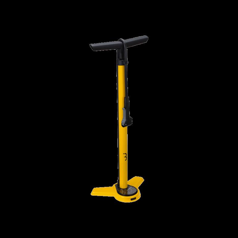 BBB BBB Airsteel Floor Pump Yellow