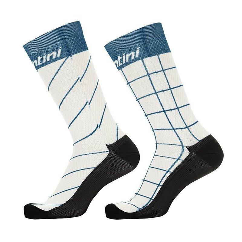 Santini Dinamo Xs/Sml Prof socks Silver