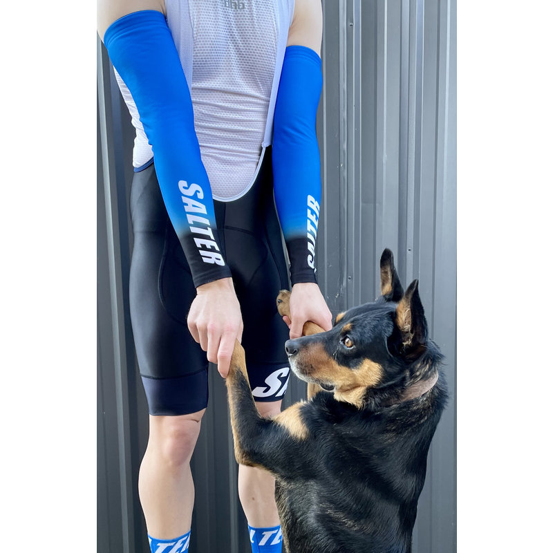 Salters 20/23 Arm Warmers Blue/Blk