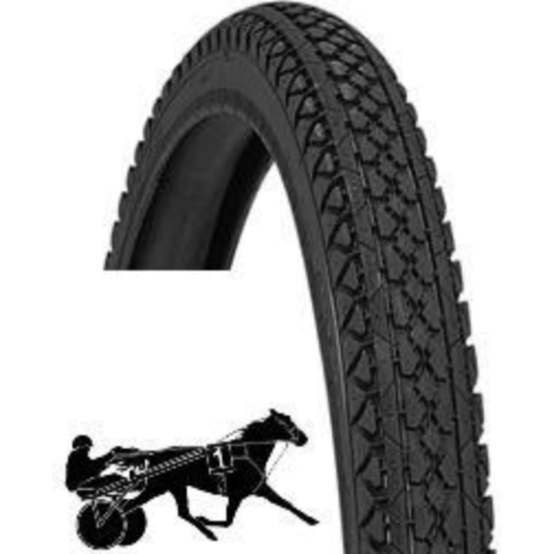 Duro SULKY TYRE, HEAVY DUTY 26 x 2 x 1 3/4 BLACK, 54 x 571 (TROTTING SULKY TYRE) Does NOT fit MTB