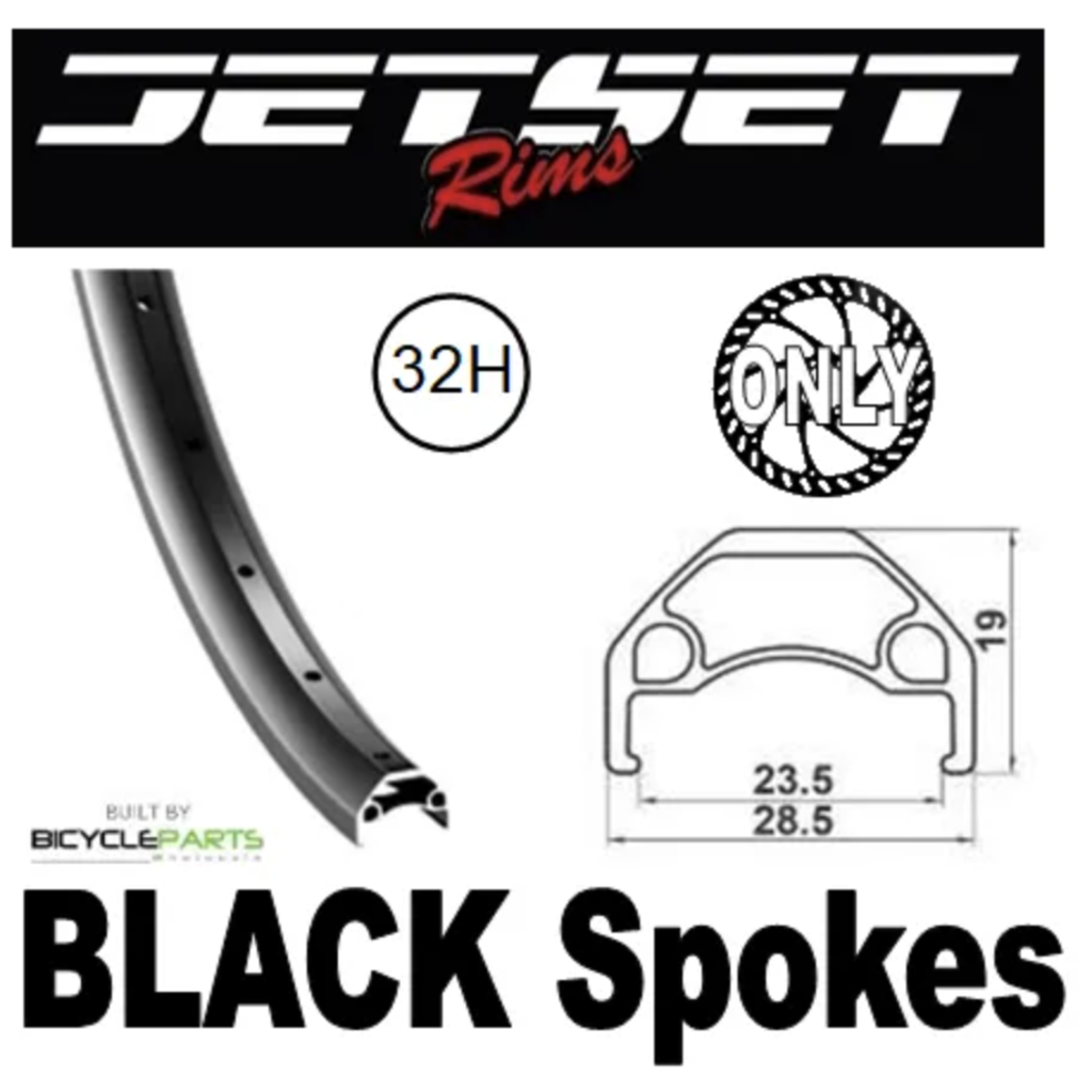 Wheel 27.5 Black Screw On Q/R