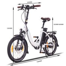 NCM Paris+ Folding E-Bike, 250W, 36V 19Ah 684Wh Battery, [White 20 ]