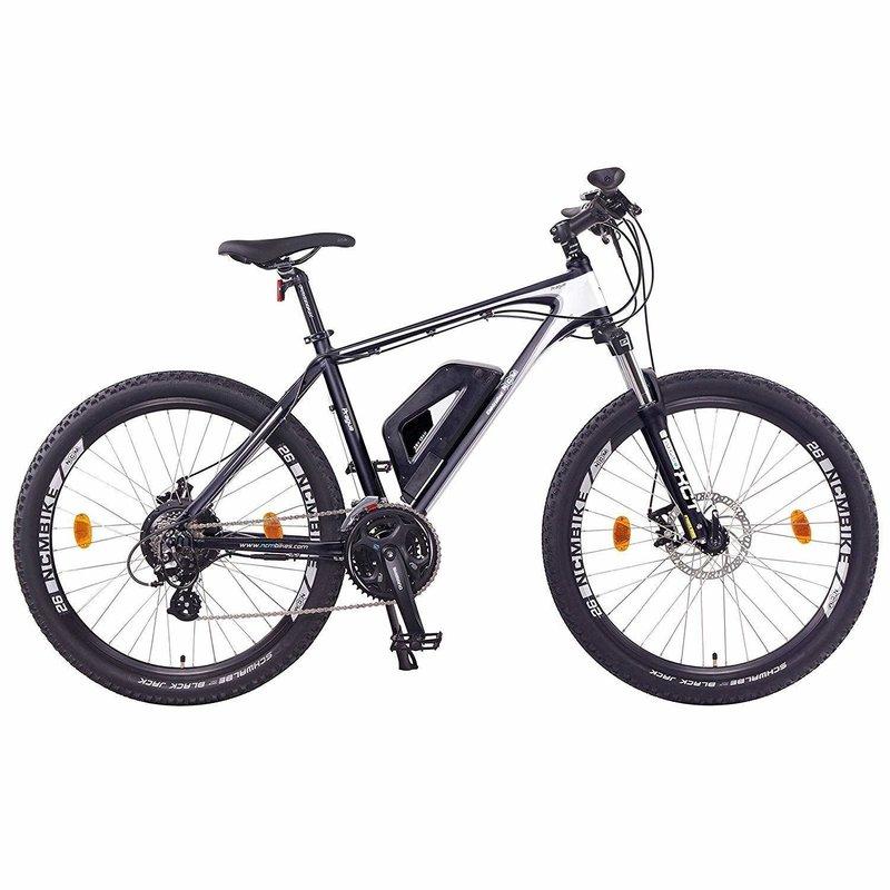 NCM Prague Electric Mountain Bike, E-Bike, E-MTB, 250W, 36V 13Ah 468Wh Battery [Black 26]