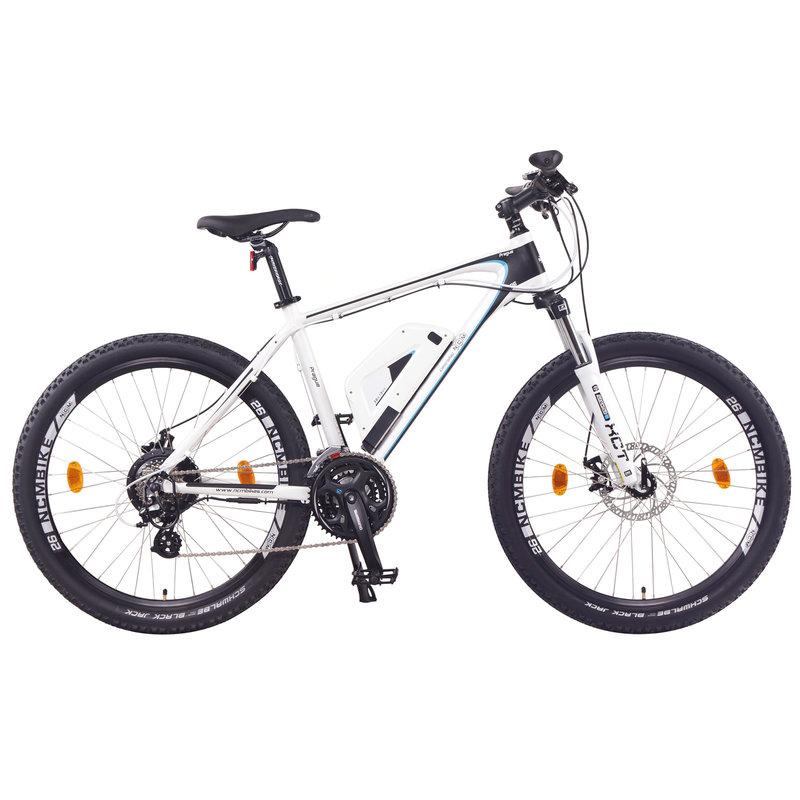 NCM Prague Electric Mountain Bike, E-Bike, E-MTB, 250W, 36V 13Ah 468Wh Battery [White 26]