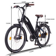 NCM Milano Trekking E-Bike, City-Bike, 250W, 48V 13Ah 624Wh Battery [Black 26]