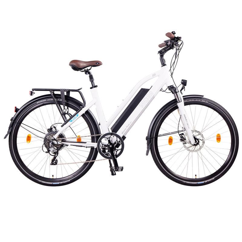 NCM Milano Plus Trekking E-Bike, City-Bike, 250W, 48V 16Ah 768Wh Battery [White 28]