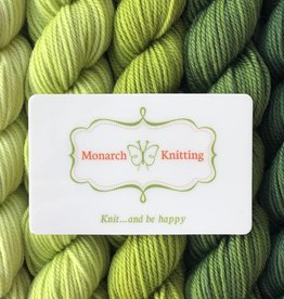 Monarch Knitting Gift Card
