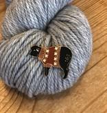 K2Tog Club Enamel Pin - Fall Colorwork Sweater