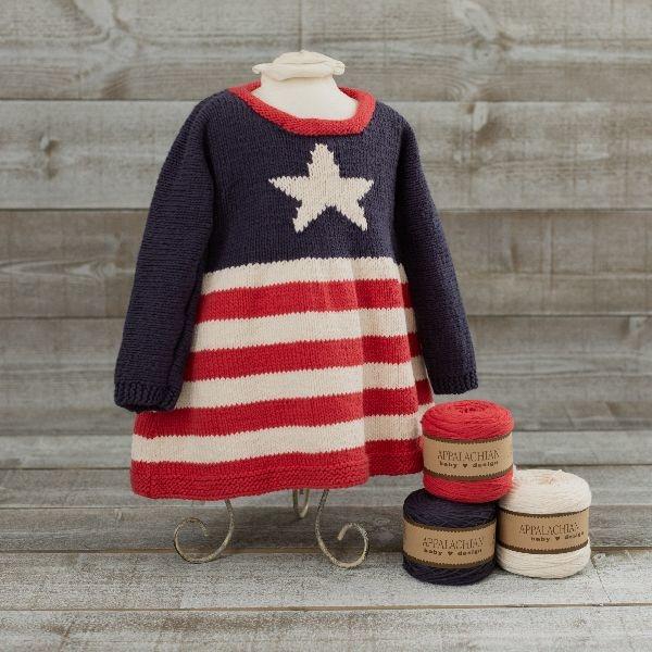 Appalachian baby Appalachian Stars & Stripes Dress Kit
