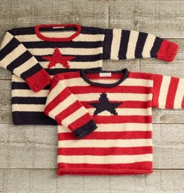 Appalachian baby Appalachian Stars & Stripes Pullover Kit - Blue Stripe