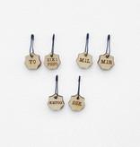 Katrinkles Increase / Decrease Stitch Marker Set- Card of 6 Pins