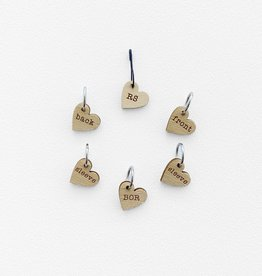 Katrinkles Instruction Stitch Marker Set - Card of 6 Pins