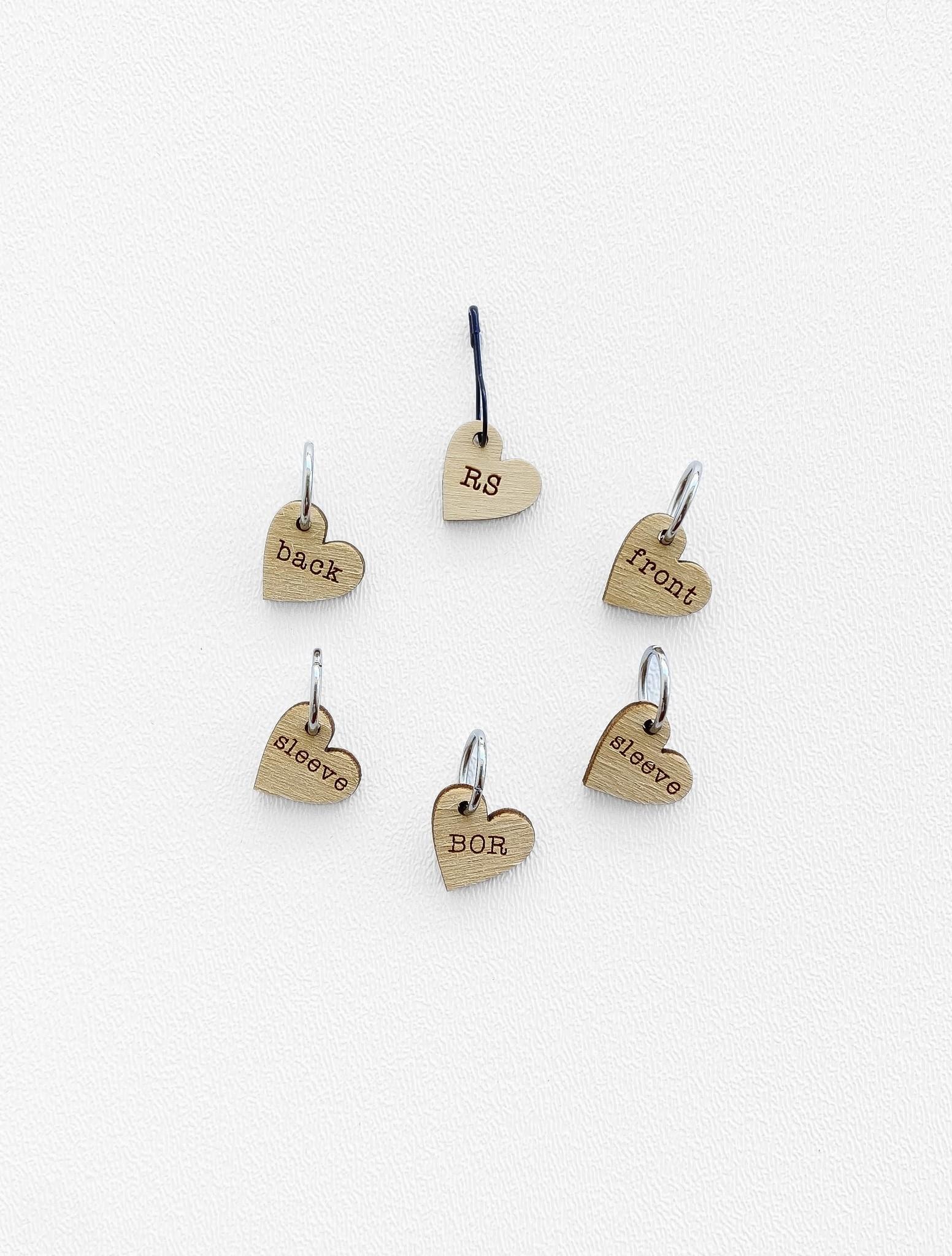 Katrinkles Instruction Stitch Marker Set - Card of 6 Pins