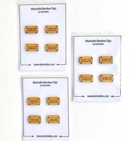 Katrinkles Washing Instruction Tags - Card of 4
