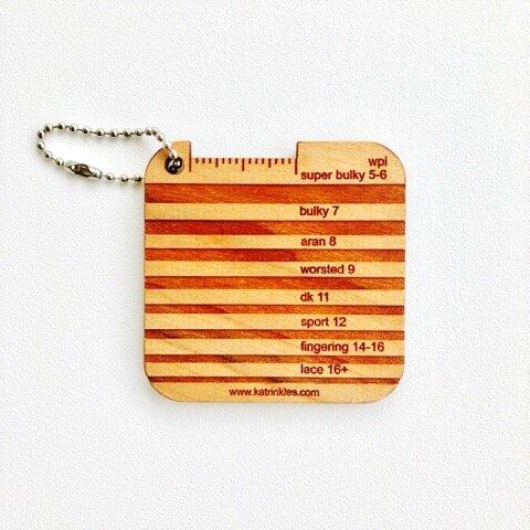 Katrinkles Wraps Per Inch/Yarn Gauge Mini Tool