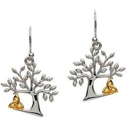 S/S Tree of Life Trinity Knot Earrings
