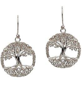 S/S Tree of Life CZ Earrings