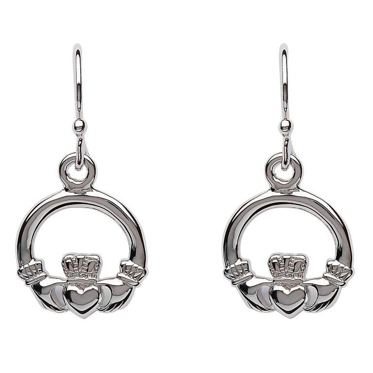 S/S Claddagh Drop Earrings