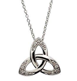 S/S CZ Trinity Knot Pendant