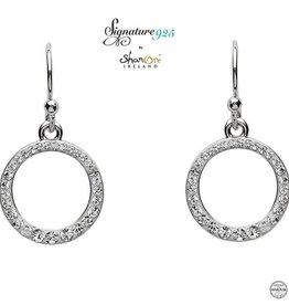 S/S Swarovski Circle Drop Earrings