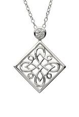 S/S CZ Celtic Knot Pendant