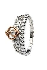 S/S Trinity Princess CZ Rose Gold Plated Ring
