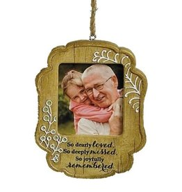 Joyfully Remembered Photo Ornament