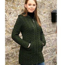 West End Knitwear Ltd. Hooded Zip Coat