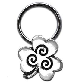 Celtic Knot Works Lucky Shamrock Keychain