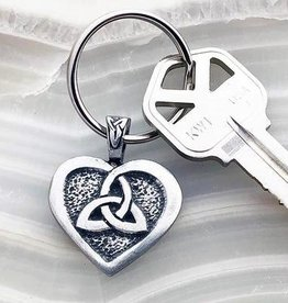 Celtic Knot Works Celtic Heart and Trinity Knot Keychain