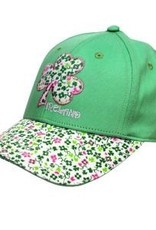 Ireland Shamrock Kids Baseball Cap, Apple Green