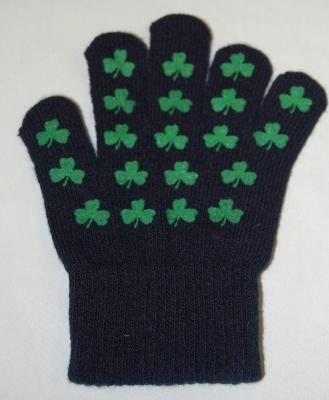 Youth Navy Shamrock Gloves
