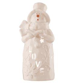 Belleek Love Snowman Votive