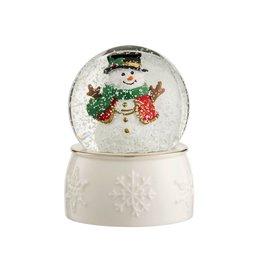 Belleek Snowman Snowglobe