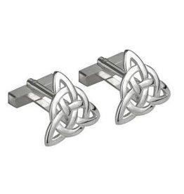 Rhodium Plated Celtic Knot Cufflinks