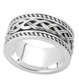 Sterling Silver Gents Celtic Knot Band