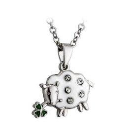 Lucky Enamel & Crystal Sheep Necklace