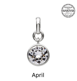 S/S April (Diamond) Swarovski Charm