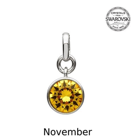 S/S November (Yellow Topaz) Swarovski Charm