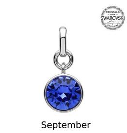 S/S September (Sapphire) Swarovski Charm