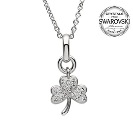 S/S Swarovski Shamrock Necklace