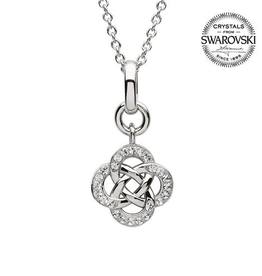 S/S Swarovski Celtic Knot Pendant