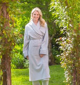 Lee Valley Ireland Cotton Flannelette Striped Nightrobe