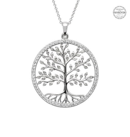 S/S Swarovski Tree of Life Necklace