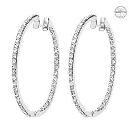 S/S Swarovski Hoop Earrings