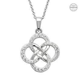 S/S Swarovski Celtic Knot Necklace
