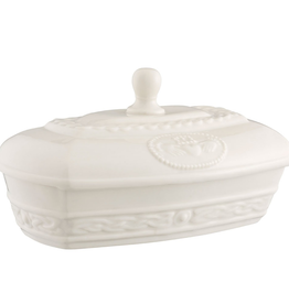 Belleek Classic Claddagh Butter Dish