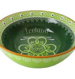 Ireland Shamrock Spiral Bowl