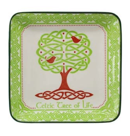 Celtic Tree of LIfe Square Dish