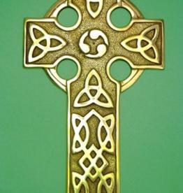 Medium Brass Celtic Cross